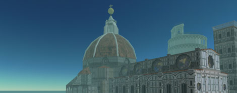 Visit the Florence monuments in Second Life