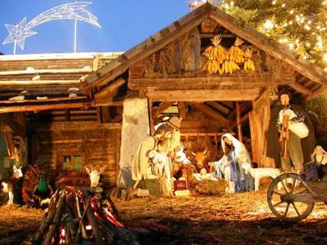 A traditional Italian Christmas Presepe