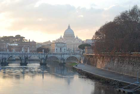 A sunset in Italy's capital: Rome