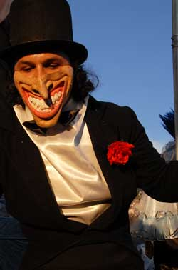 Viareggio Carnival Parade: one of the mask