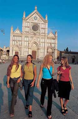 Italian students enjoying their language travel in Italy