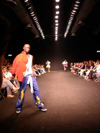 Fashion catwalk in Milan
