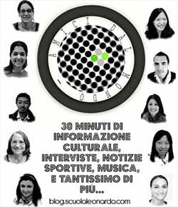 Students of Italian language who participate to Radio Leo