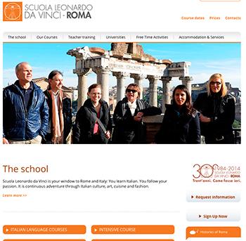 New Scuola Leonardo da Vinci Rome website