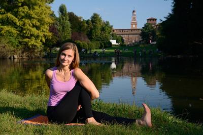 Lezione di hatha yoga a Milano