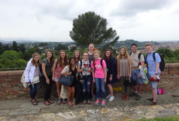 Studenti a Forte Belvedere